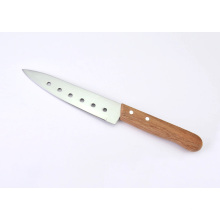 Wooden Handle Stainless Steel Kitchen Knives, Sashimi Knives, Petty Knives with 6 Holes
